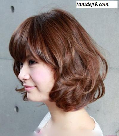 Kiểu tóc ngắn uốn xoăn nhẹ, Kiểu tóc xoăn nhẹ sành điệu năm 2015