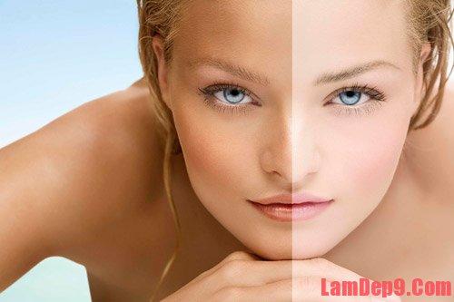 Phân loại da trước khi tắm trắng tại nhà cho các loại da