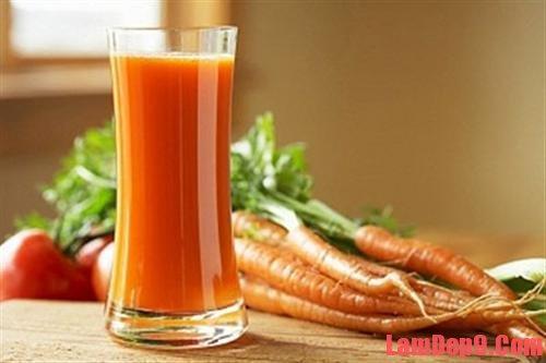 Cách trị mụn từ cà rốt