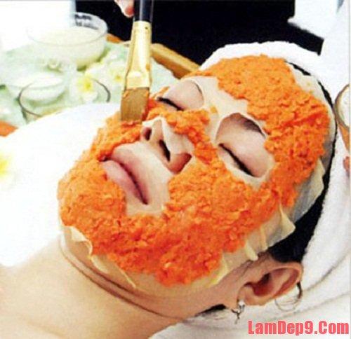 Trị mụn hiệu quả với cà rốt
