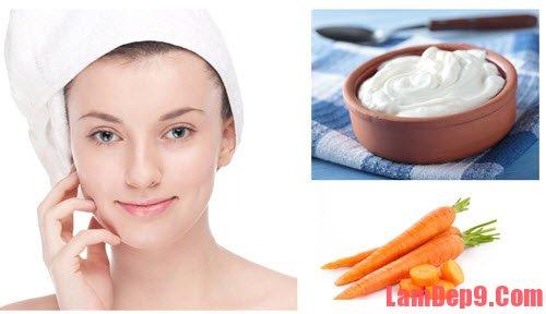 Mặt nạ trị mụn đầu đen hiệu quả từ sữa chua và cà rốt